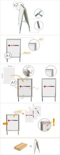 A1 kétoldalas megállító tábla