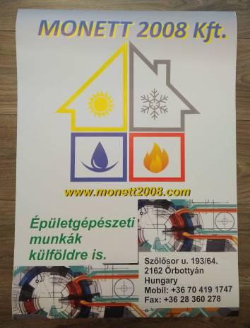 Kültéri papír plakát nyomtatás - Monett