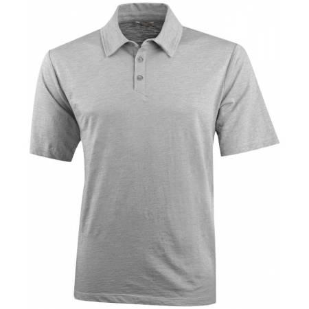 31a1dfabba Elevate Tipton rövidujjú galléros férfi póló, szürke, heather grey, XL