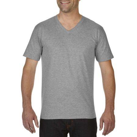 717fa6eb2 Gildan Premium férfi V-nyakú póló, RS Sport Grey, 2XL - Profi-Reklam ...