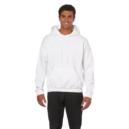Gildan Heavy Blend kapucnis pulóver, White, 5XL Profi