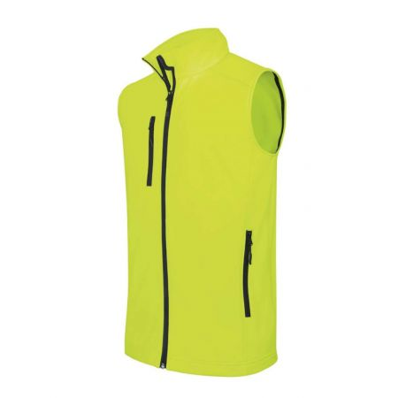 Kariban Softshell mellény, Fluorescent Yellow, L