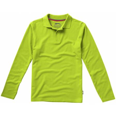 Slazenger Point hosszúujjú pamut piképóló, apple green, 3XL