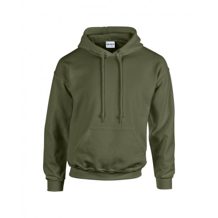 Gildan Heavy Blend kapucnis pulóver, Military Green, 5XL