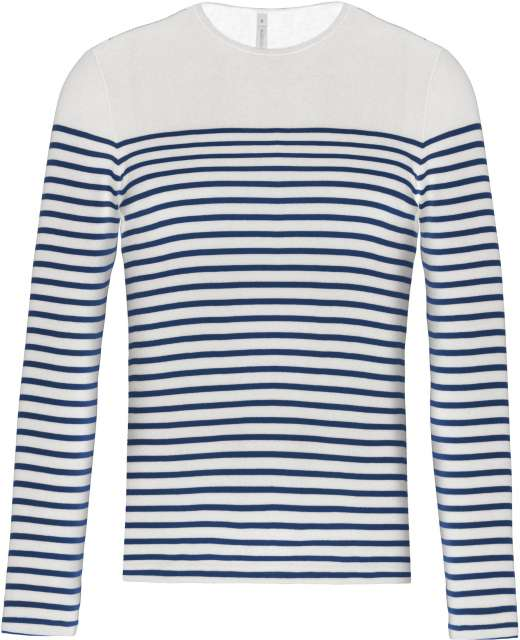 MEN'S LONG-SLEEVED BRETON STRIPE TOP