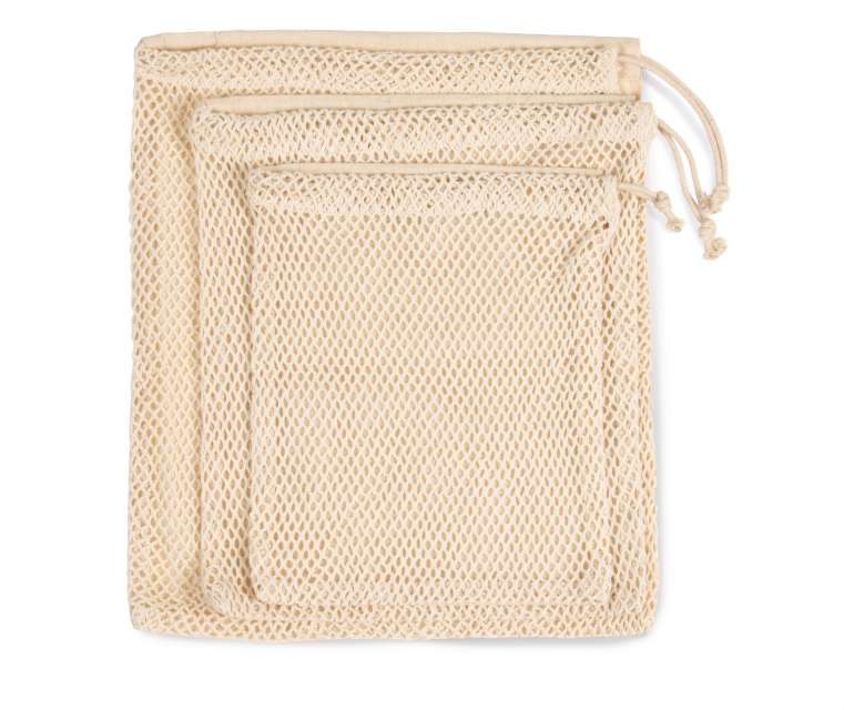 MESH BAG WITH DRAWSTRING CARRY HANDLE