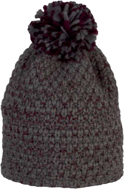 BOBBLE BEANIE IN THICK KNIT