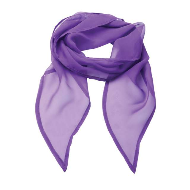 'COLOURS COLLECTION' PLAIN CHIFFON SCARF